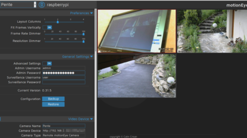 Motioneye : Video surveillance sur raspberry pi - Dekloo net