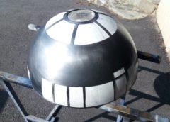 R2D2, découpe du dôme extérieur