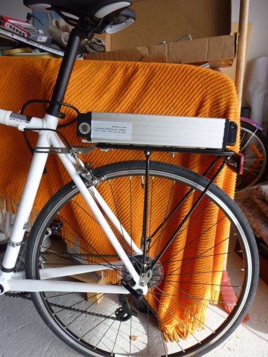 montage batterie vélo électrique moteur